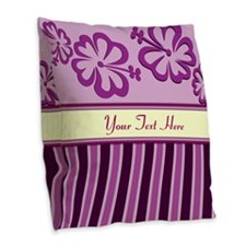 Purple And Pink Stripe Hibiscus Personalized Burla
