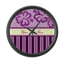 Purple And Pink Stripe Hibiscus Personalized Large
