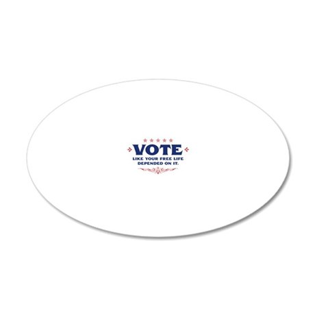 votetee 20x12 Oval Wall Decal