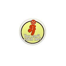 gingerbread_man_yellow_large Mini Button