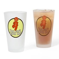 gingerbread_man_yellow_large Drinking Glass