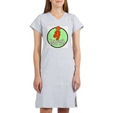 gingerbread_man_green_large Women's Nightshirt