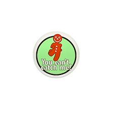 gingerbread_man_green_large Mini Button