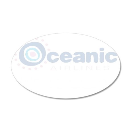 Oceanic airline customer lig 35x21 Oval Wall Decal