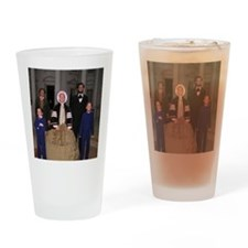 Lincoln Family Drinking Glass
