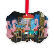 Birds Playing Poker Ornament
