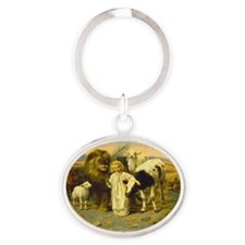 william strutt - peace Oval Keychain