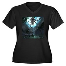 water rift Women's Plus Size Dark V-Neck T-Shirt