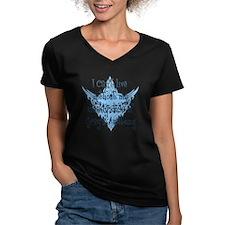 2-weekly dose blue Women's V-Neck Dark T-Shirt