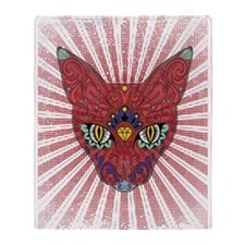 Cool Egyptian style mystic cat Throw Blanket