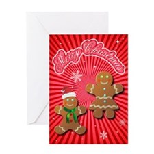 Unique Gingerbread men Greeting Card
