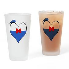 I heart Donald Duck Drinking Glass