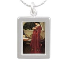 The Crystal Ball Silver Portrait Necklace