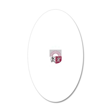 Latvia_Crest_for_dark 20x12 Oval Wall Decal