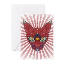 Cool Egyptian style mystic cat Greeting Cards