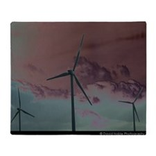 Wind Farm Throw Blanket