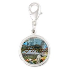 florence14-10x10 Silver Round Charm