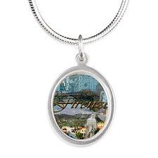 florence15btc- Silver Oval Necklace