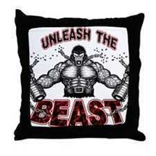 Unleash The Beast Throw Pillow
