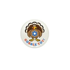 Funny Thanksgiving Hanukkah 2013 [r] Mini Button (