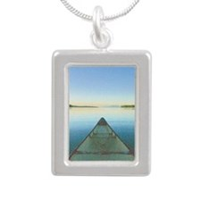 Lake Notecards_edited-1 Silver Portrait Necklace