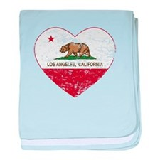 california flag los angeles heart distressed baby