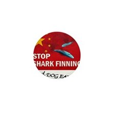 shark-finning-dogs Mini Button