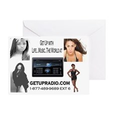 get up radio car magnets Greeting Card
