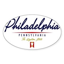 Philadelphia Script W Bumper Stickers