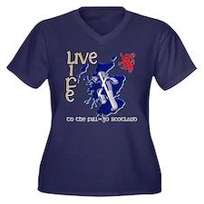 Live Life Scots Running Design Plus Size T-Shirt