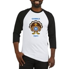 PERSONALIZE Thanksgiving Hanukkah Baseball Jersey