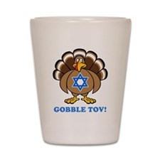 Funny Thanksgiving Hanukkah 2013 Shot Glass