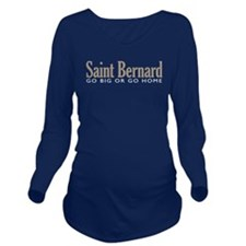 Saint Bernard Long Sleeve Maternity T-Shirt