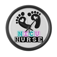 NICU Nurse 4 Large Wall Clock