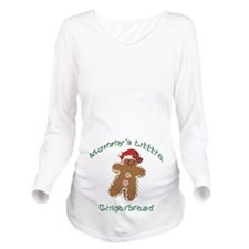 Mommys Little Gingerbread Long Sleeve Maternity T-