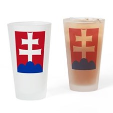 slovakiaEmblem2 Drinking Glass