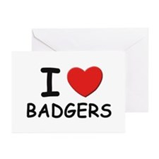 I love badgers Greeting Cards (Pk of 10)