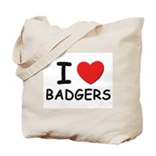 I love badgers Tote Bag