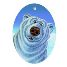 polarbear_poster Oval Ornament