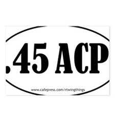 45ACP oval sticker PATH.e Postcards (Package of 8)