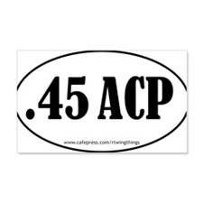 45ACP oval sticker PATH.eps Wall Decal