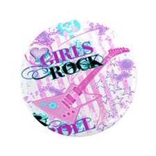 "Girls Rock 3.5"" Button"