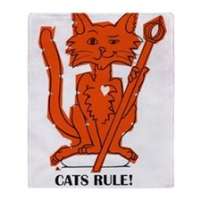 cats rule Throw Blanket