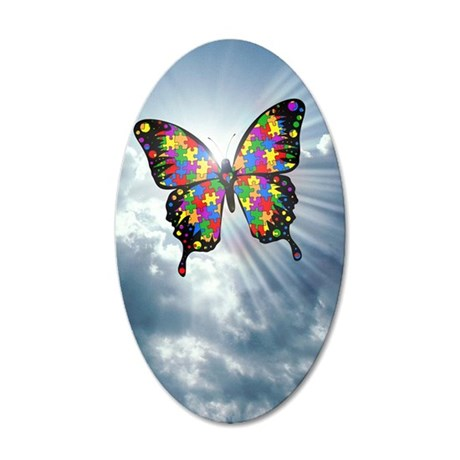 autismbutterfly - sky journa 35x21 Oval Wall Decal