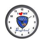 Police Boyfriend Wall Clock