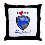 Police Boyfriend Throw Pillow