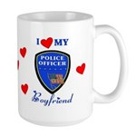 Police Boyfriend Large Mug