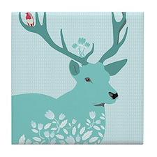 Blue Deer Tile Coaster