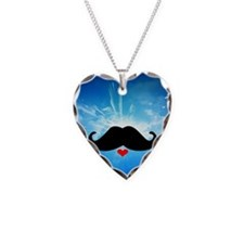 Speak LOVE out loud moustache 2 Necklace