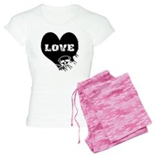love_skull_blk Pajamas